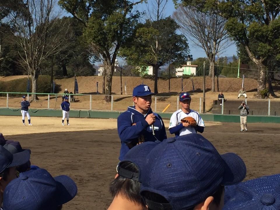 谷口選手 野球教室説明