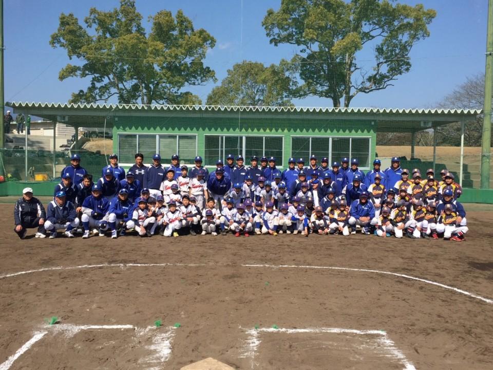 野球教室集合写真