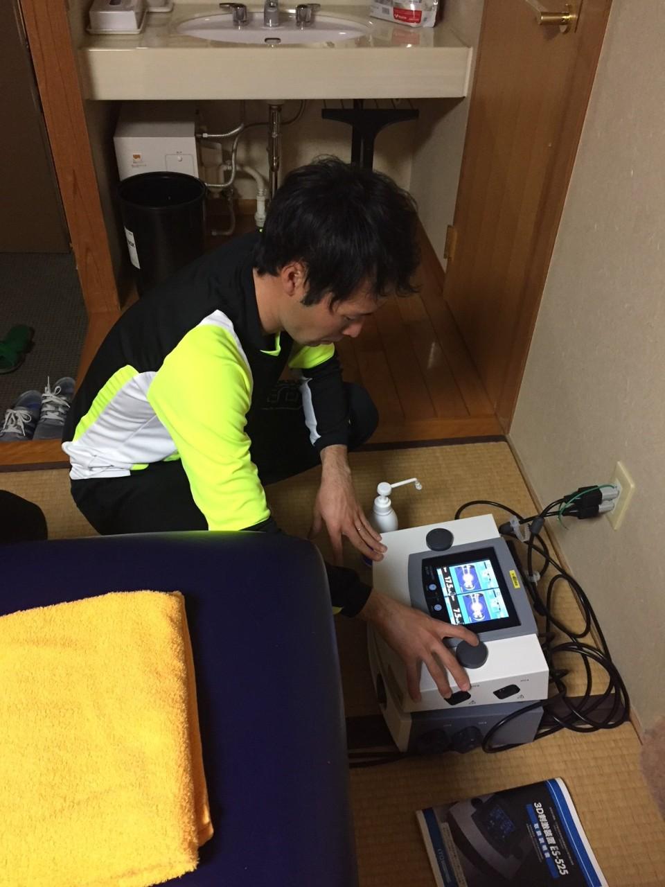 三橋トレーナー準備